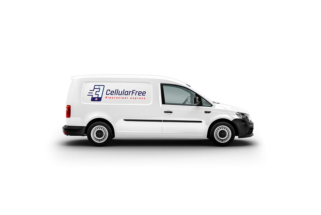 logo professionale su furgone