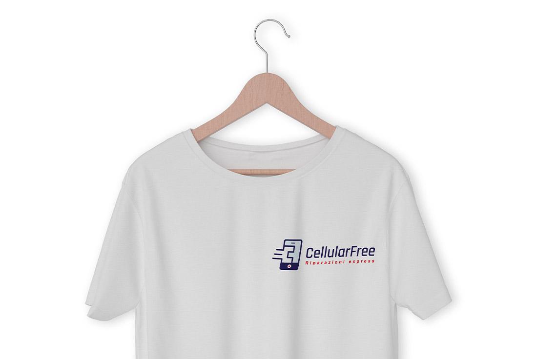 logo professionale su tshirt