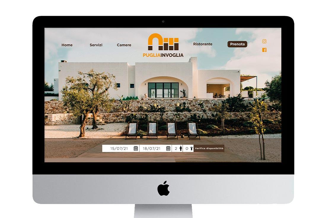 logo professionale su sito web