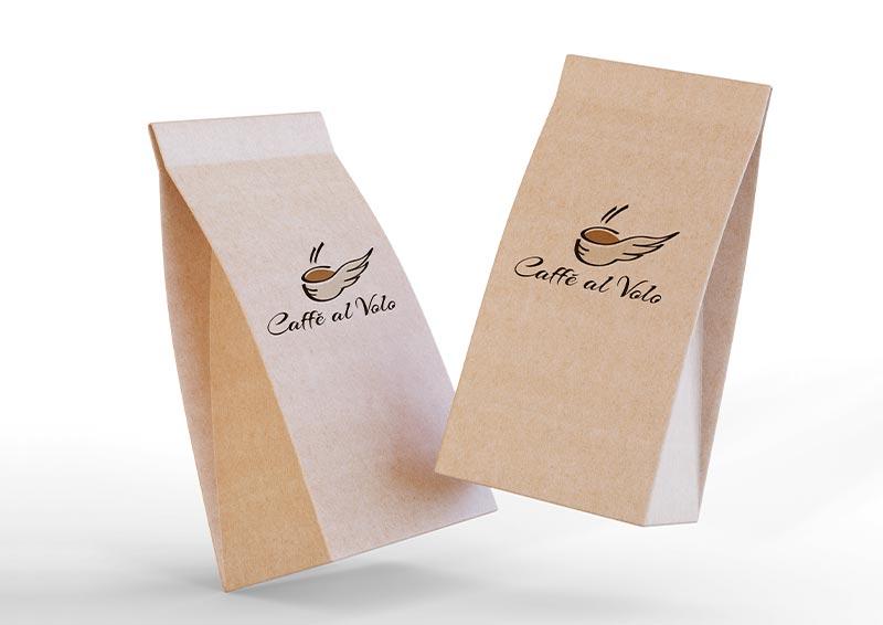 applicazione logo caffetteria